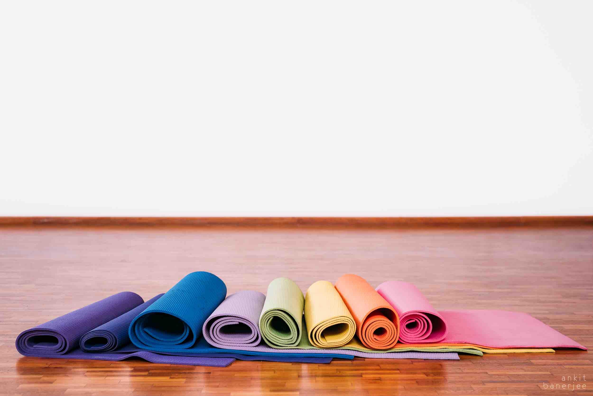 Studio inventory yoga mats